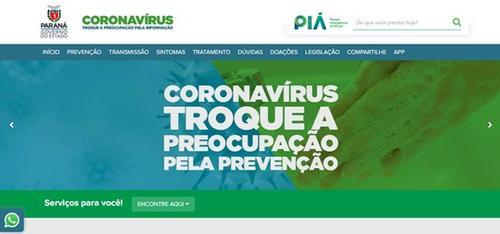 Governo do Paraná lança site informativo sobre o novo coronavírus